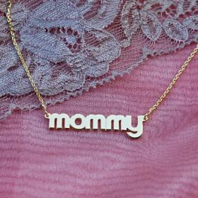 "Pozlátená retiazka ""mommy"""