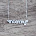 "mini ""mommy"" strieborná retiazka"
