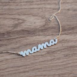 """Strieborná retiazka """"mama"""""""
