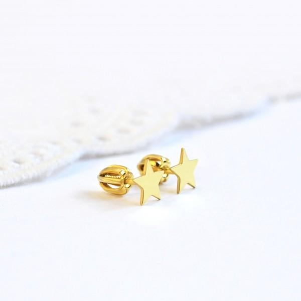 1be4410980e69 Zlaté Mini hviezdičky - Šperky s menom