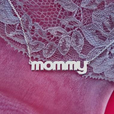 "Strieborná retiazka ""mommy"""